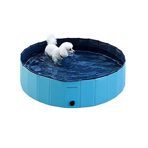 Tragbare faltbare Haustier Kinder Bad Polsterung Pool PVC rutschfeste zusammenklappbare Hunde Katzen Dusche Dusche Badewanne Badewanne Badewanne Wasserteich für kleine mittlere Welpen Kätzchen