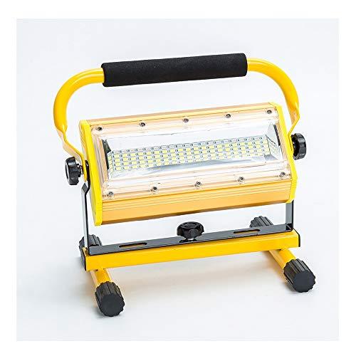 PULLEY COB LED luz de trabajo, 100 W recargable portátil proyector de batería impermeable IP65, sin cargador de coche