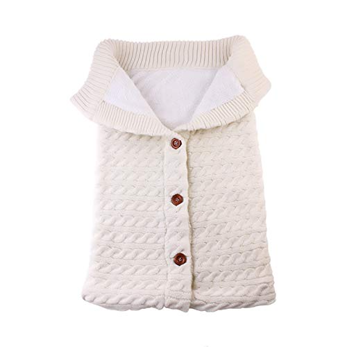 Blankets for Newborn Babies, Sleeping Bag Knitted Blanket Newborn Warm Cozy and Soft Full Zipper Blanket for 0-12 Month Baby