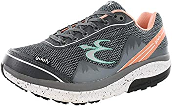 Gravity Defyer Proven Pain Relief Women's G-Defy Mighty Walk Salmon Gray Athletic Shoes 9.5 M US - Women's Walking Diabetes Shoes for Knee Pain