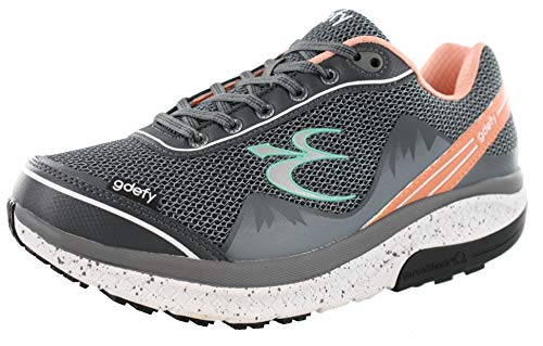 Gravity Defyer Proven Pain Relief Women's G-Defy Mighty Walk Salmon Gray Athletic Shoes - Best Shoes for Heel Pain, Foot Pain and Plantar Fasciitis