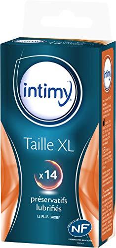 INTIMY - Préservatifs taille XL, x14 - Préservatifs Lubrifiés Avec Réservoir - Surface Lisse - Latex de Qualité Supérieure