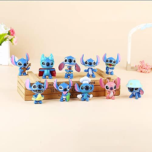 xingguang Anime niños regalo 1 set de 10 dibujos animados lindo puntada dibujos animados mano oficina Aberdeen micro paisaje hecho a mano adornos llavero colgante