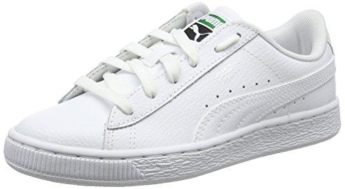 Puma Unisex-Kinder Basket Classic LFS Jr Sneaker, Weiß White White, 35.5 EU