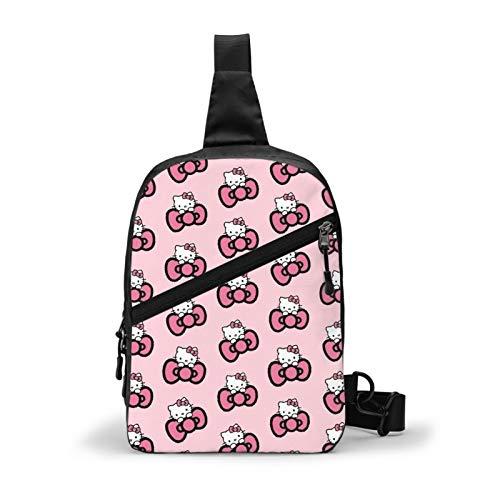 Jkjjerfhf Hello Kitty Sling Bag/Backpack Crossbody Bags Multipurpose Waterproof Foldable Yoga Gym Bike Outdoor Men Women Travel Hiking Shoulder Bag Chest Bag Daypack