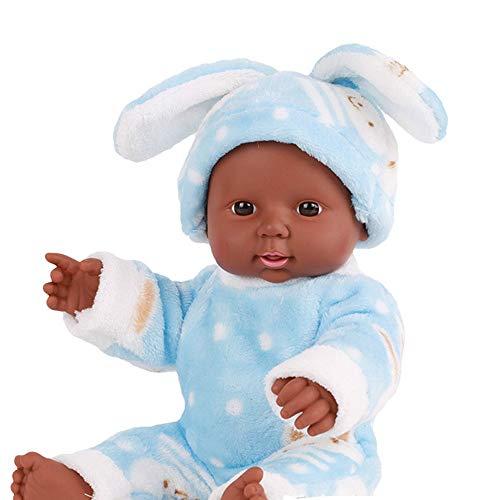 ASDAD LOL Puppe Überraschung Für Mädchen Gummipuppe Spielzeug Für Kinder Bebe Reborn Menina Corpo De Silikon 30 cm Emuliert Blink Puppen,Blue