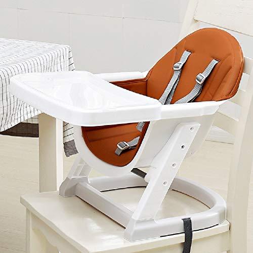 MLDO Chaises hautes Siège d'appoint Baby Comfort, avec Double Plateau Amovible et Harnais de sécurité à 5 Points, réglable en Hauteur (Color : A)
