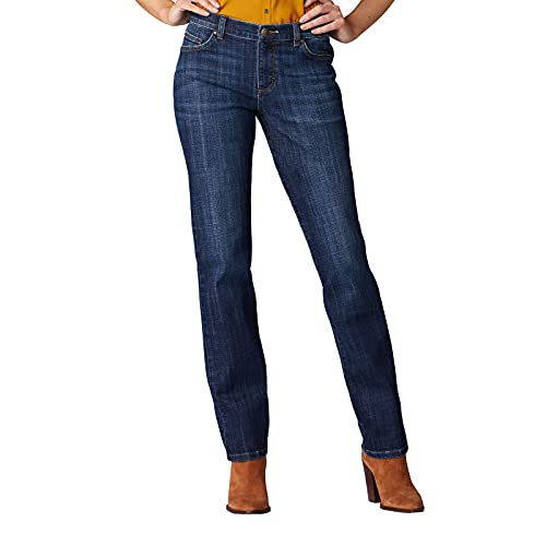 Lee Women's Relaxed Fit Straight Leg Jean, Bewitched, 4 Petite
