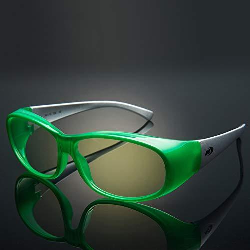 WYZQQ Occhiali da Gioco per Computer | Occhiali con Luce Blu | Lenti Ambra per Sonno Profondo E Relax | Migliora Il Ciclo del Sonno | Ridurre L affaticamento degli Occhi Emicrania Mal di Testa Inson