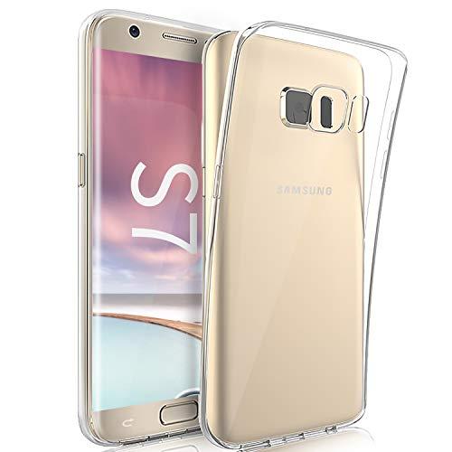 Wlife Hülle Kompatibel Samsung Galaxy S7,Slim Transparent Weich Anti-Vergilbung TPU Schutzhülle,Anti-Fingerabdruck, Anti-Kratze Qualität Stoßfest durchsichtig Silikon Handyhülle für Samsung S7
