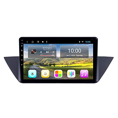 XXRUG Android Autoradio Navi Für BMW X1 2010-2015 Headunit GPS-Navigationssystem SWC 4G WiFi BT USB AUX Funkkarte Satellitennavigator