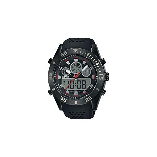 Lorus Herren Analog-Digital Quarz Uhr mit Silikon Armband R2335LX9
