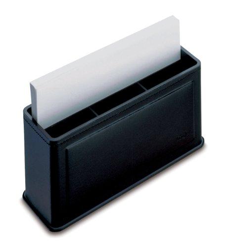 Läufer Ambiente Scala 36416 - Porta post-it in vera pelle, 15 x 5 x 7,5 cm, colore: Nero