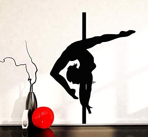 Haus Dekoration Wandaufkleber Pole Dance Streaptease Vinyl Aufkleber Tanzen Für Wohnzimmer Tapete Gesundheit 42X57CM