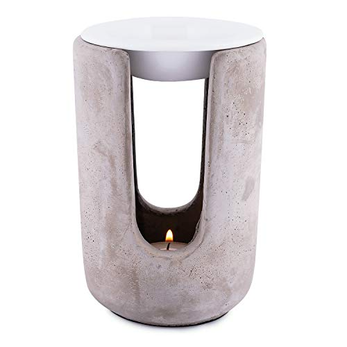 Pajoma Duftlampe ''Ambiente'' aus Beton & Keramik, Höhe 15 cm