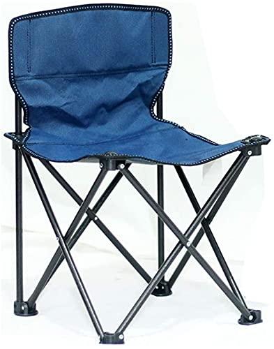SDKFJ Silla de Camping Silla de Camping portátil Sillas de Pesca Plegables Sillas de Playa ultraligeras para el Ocio al Aire Libre para el Parque Picnic Camp Garden BBQ 0626(Color:Blue)