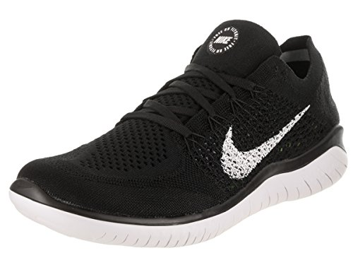 Nike Mens Flyknit 2017 Fabric Low Top Trail, Black/White, Size 9.0
