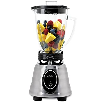 Oster BPCT02-BA0-000 6-Cup Glass Jar 2-Speed Toggle Beehive Blender Brushed Stainless