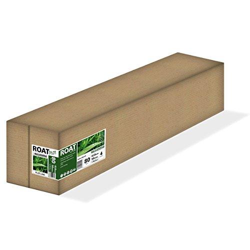 ROAT R6105050 – Rollo de papel inkjet de 80 gr, 610 mm x 50 mtrs, extra blanco, para todo tipo de plotters, 4 uds/caja