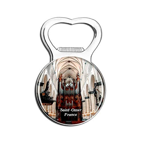 Weekino Saint-Omer Frankreich Cathedrale Bier Flaschenöffner Kühlschrank Magnet Metall Souvenir Reise Gift