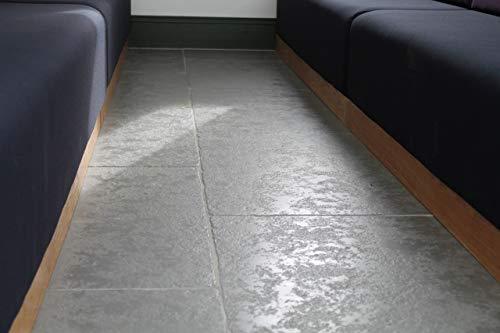Aschgrau 1/2 geschliffener Kalkstein-Pflaster, 22 mm, kalibriert, 600 Terrassen, Packung mit 19,50 m2