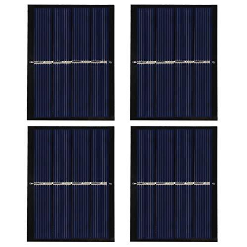 Omabeta Solar Panel System Solar Panel Charging 4Pcs 0.65W 2V Good Airtightness for Solar Toy Lights Battery Charging