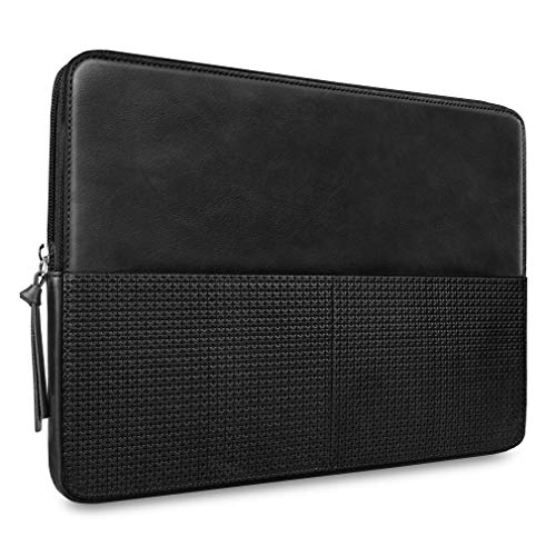 CAISON Genuine Leather Laptop Sleeve Case For New M1 Chip MacBook Pro 13/13 inch MacBook Air M1 / 13.3' Dell XPS 13/12.3' Microsoft Surface Pro 7