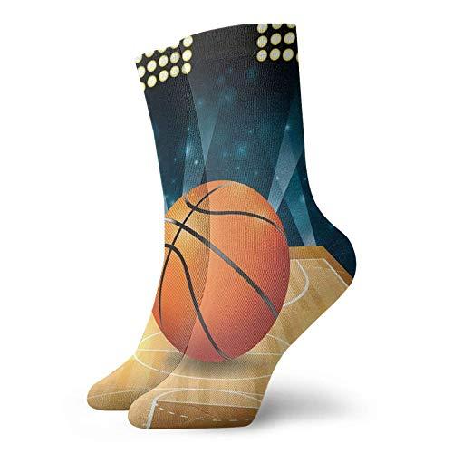 Yaxinduobao Baloncesto en cancha de madera dura Calcetines cálidos y transpirables Calcetines casuales 30cm