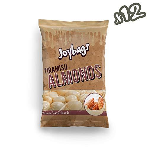 Joybags Tiramisu Almonds. 12x 150g Bags, Total 1.8kg. Gluten Free, Vegetarian