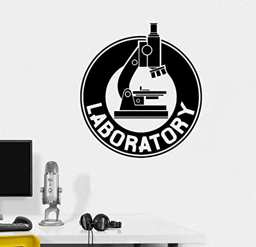 Diuangfoong Microscope Wall Stickers Mural Bedroom Laboratory Art Decal Chemistry Science Biology Vinyl Wall Decals Lab Decor Poster