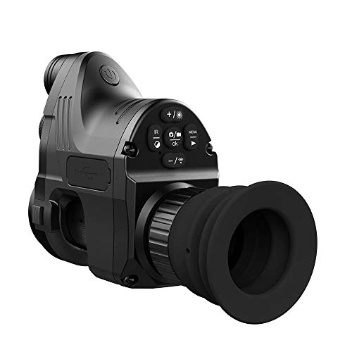 Infrared LED IR Night Vision Telescope Scope Cameras Outdoor WiFi Digital Night Vision Monoculars with 8P HD Lens, Black