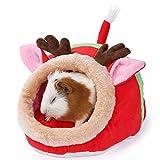 JanYoo Accesorios de ratas de conejo, juguetes de cama, casetas, cojín extraíble para regalo de Navidad de conejillo de indias