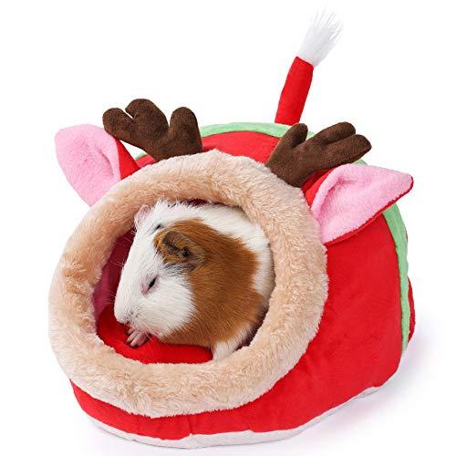 JanYoo Accesorios de ratas de conejo, juguetes de cama, casetas, cojín extraíble...