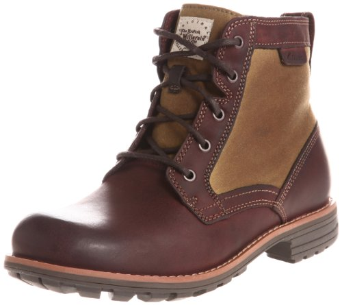Clarks Men's Midford Drill Boots Brown Size: 8.5 UK