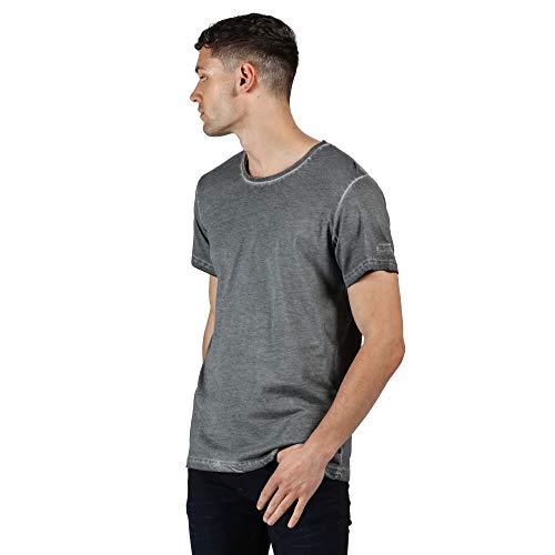 Regatta T- Shirt 100% Coton Organique écologique CALMON Polos/Vests Homme, Rock Grey, FR : 2XL (Taille Fabricant : XXL)
