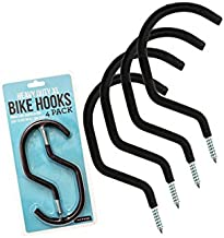 Impresa Products 4-Pack Bike Hook/Hanger - Heavy-Duty, Fits All Bike Types, Wide Opening, Easy On/Off - Perfect Hooks/Hangers for Garage Ceiling and Wall Bicycle Storage and Hanging