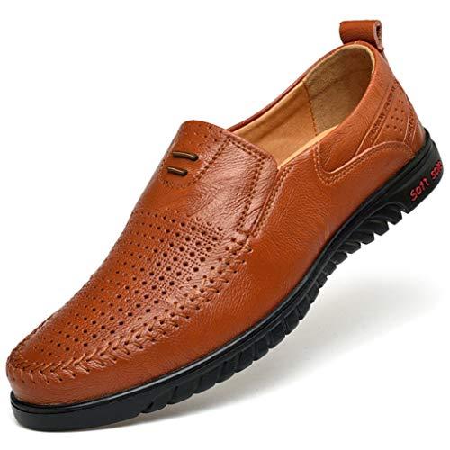 Mocasines de Hombre Mocasines de Cuero Zapatos de conducción Oficina de Negocios Zapatos de Vestir de Trabajo Zapatos Casuales Masculinos