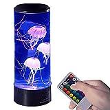 Lámpara de medusas USB, lámpara LED de medusas, lámpara de lava con 6 cambios de color, jalea eléctrica para acuario de peces, luz de humor d...