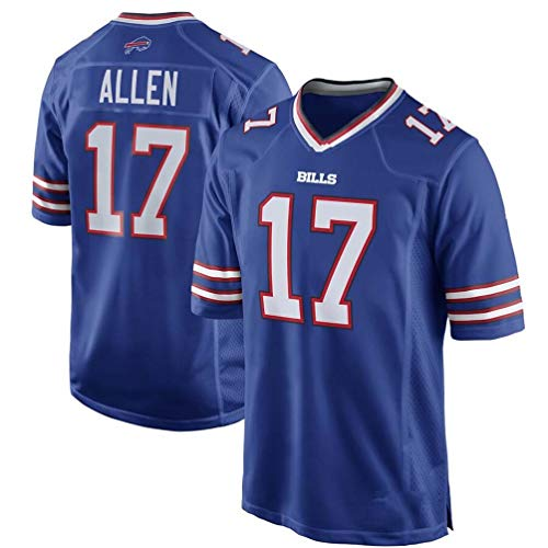 OMG020 NFL Jersey Bill 17# Allen Jersey de fútbol Bills Jersey,Blue,M