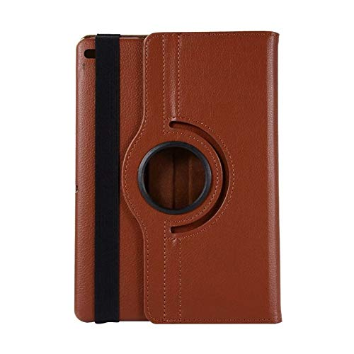 QiuKui Tab Cover For iPad 9.7 2018 2017 ipad 11 2020 /ipad 10.2, 360 Rotating Leather Smart Coque+film+pen Cover for Air 2 Air Case 5th 6th (Color : Brown, Size : 9.7 2018 6th(20175th)