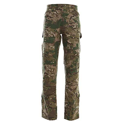 DaMeiza Männer Outdoor Wandern Hosen Camouflage Combat Pants Paintball Taktische Hosen Knieschoner Jagd Sport Hosen CP XXXL