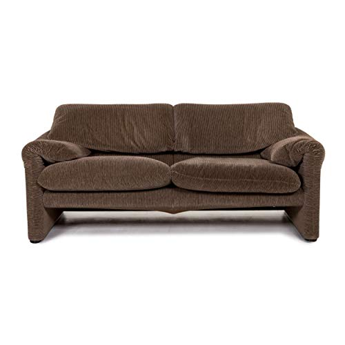Cassina Maralunga fabric sofa brown three seater function couch