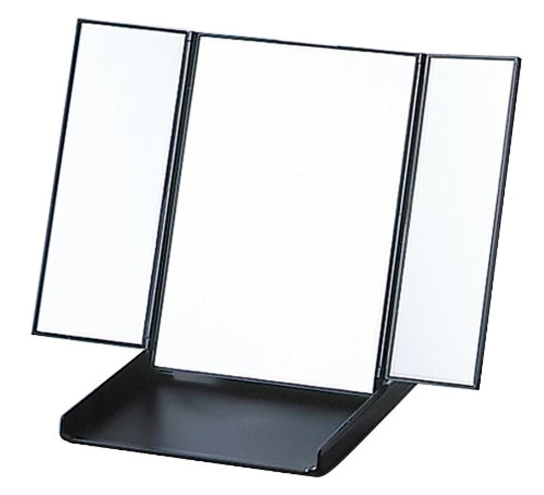 三面コンパクト ビブレウィングミラー ブラック Y-1573