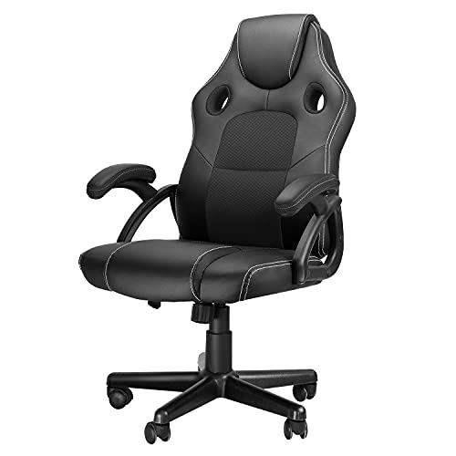 Ninecer High Back Office Chair Ergonomic, Home Office Desk Chair for Adults 330 lbs, Comfortable Computer Gaming Chair Cheap for Teens, Video Game Chairs with Lumbar Support Black