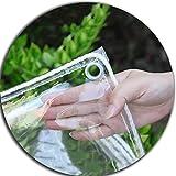 AMSXNOO Lona, Impermeable Protección con Ojales Espesor0.3mm Duradera Rectangular Transparente Lonas Jardín Piscina Vehículos Lona Camping Cubierta (Color : Clear-2x2.5m)