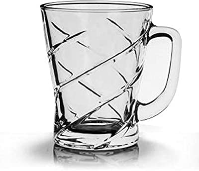 Ducati Posh Collection, Glass Mug Set for Everyday Use, Perfect for Serving, (2 Pc)