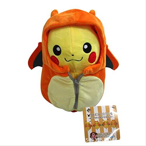 DOUFUZZ SNHPP Kreative Spielzeug Spitfire Dragon Ibe ABEL Schlange Schlafsack Pikachu Plus Spielzeug Puppe 25cm Orange (offenes Auge) Spitfire Dragon Schlafsack