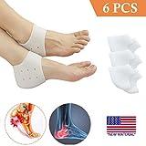 Heel Cups, Plantar Fasciitis Inserts, Heel Pads Cushion (3 Pairs) Great for Heel Pain, Heal Dry...