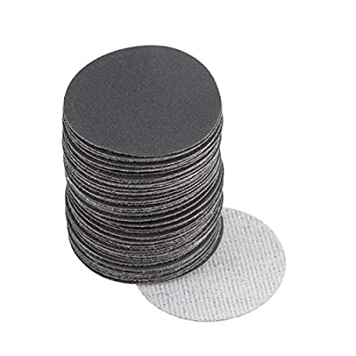 uxcell 2-Inch Hook and Loop Sanding Disc Wet/Dry Silicon Carbide 400 Grit 50 Pcs