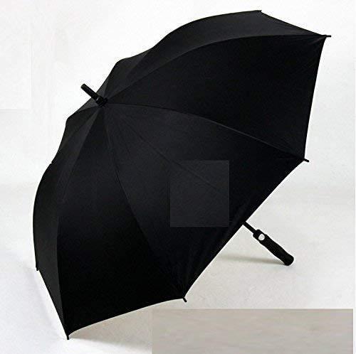 ombrello portatile con manico BAIYAN Ombrello, Facile da trasportare Ombrello Pieghevole Ombrello Full Vetro in Fibra di Vetro Golf Manico Lungo Uomo Diritto Affari